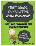 First Grade Math Skills Assessment