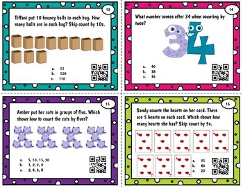 First Grade - Skip Count to 120 Task Cards and Posters