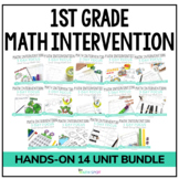 First Grade Small Group Math Intervention Lessons | Full Y