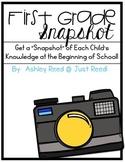 First Grade Snapshot: A Beginning of the Year Assessment