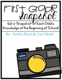 First Grade Snapshot: A Beginning of the Year Assessment