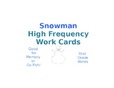 First Grade Snowman High Frequency Game