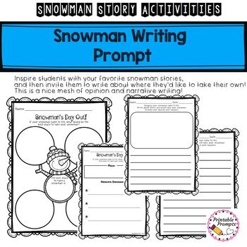 First Grade Snowman Story Activities