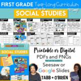 First Grade Social Studies (A 90 Day Curriculum)