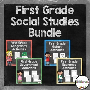 First Grade Social Studies Bundle
