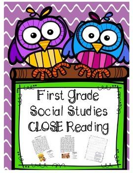 First Grade Social Studies Close Reading