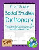First Grade Social Studies Dictionary