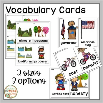 First Grade Social Studies/History Vocabulary: Virginia SOLs