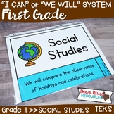 First Grade Social Studies TEKS I Can Statements