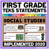 First Grade Social Studies TEKS Can and Will Standards Statements