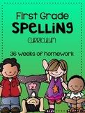 First Grade Spelling Curriculum FULL YEAR