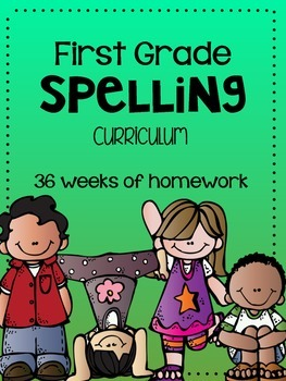 First Grade Spelling Curriculum FULL YEAR
