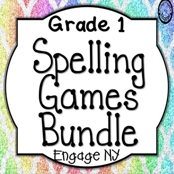 First Grade Spelling Games Bundle