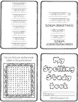 First Grade Spelling Homework // UNIT 10
