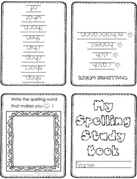 First Grade Spelling Homework // UNIT 3