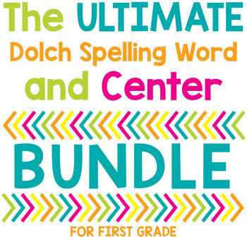 Dolch Spelling Word List, Homework, & Center Year-Long BUNDLE