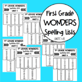 First Grade Spelling Lists for Wonders