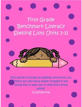 First Grade Spelling Lists from Benchmark Literacy