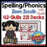Digital Phonics Spelling Boom Card Growing Bundle