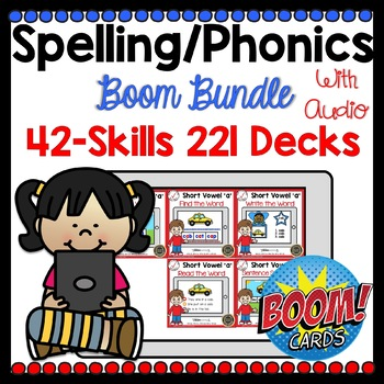Boom Cards Phonics Spelling Bundle
