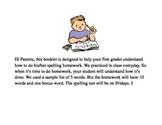 First Grade Spelling Practice Book