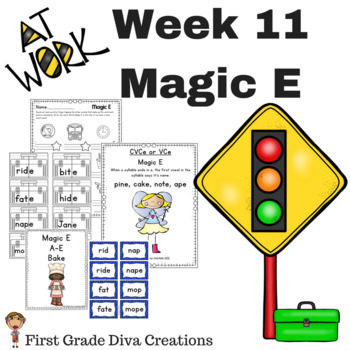 First Grade Spelling Week 11~Magic E~Printables & Activities