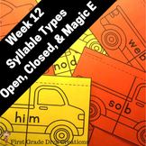 Magic E, Closed, and Open Syllables | Phonics Activities