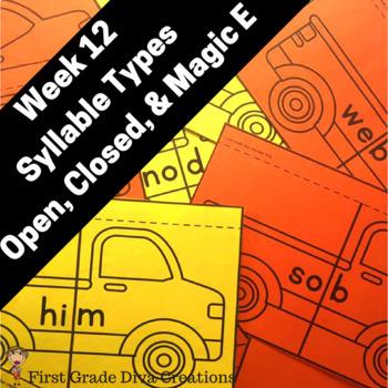 Phonics Activities for First Grade! Week 12: Magic E,Close