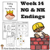 Spelling and Phonics Activities for First Grade Week 14-NK & NG Endings