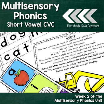 Spelling and Phonics Instruction for First Grade-Week 2 CVC Pattern