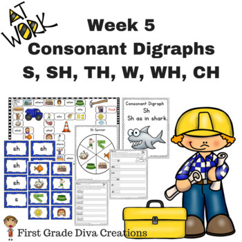 Spelling and Phonics Instruction for First Grade-Week 5 Consonant Digraphs