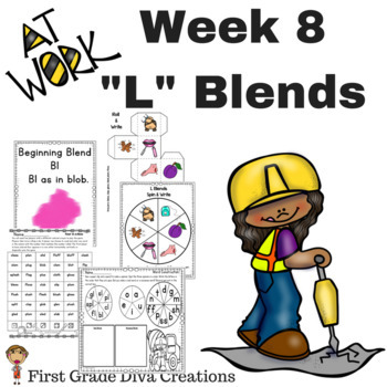 Spelling and Phonics Activities for First Grade Week 8-Consonant L Blends