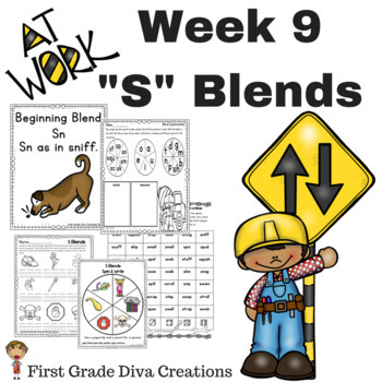 "Spelling and Phonics Activities for First Grade! Week 9: Consonant ""S"" Blends"