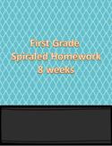 First Grade Spiraled Homework