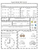 First Grade Spiraling Calendar Journal Calendar Routine Common Core FREEBIE