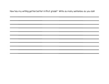 First Grade Spring Assessment Packet--Perfect for Conferences