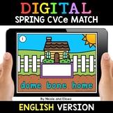 Spring Digital CVCe Word Work for Google Classroom 2 - Dis