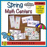 First Grade Spring Math Center Games