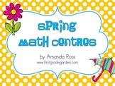 First Grade Spring Math Centres