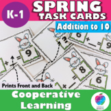 Spring Activities - Addition to Ten Task Cards - First Grade Math