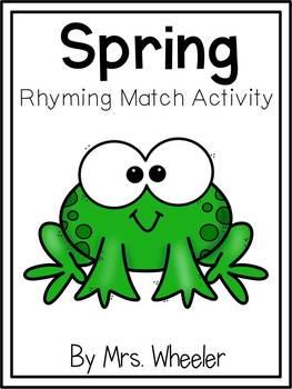 First Grade Spring Rhyming Match
