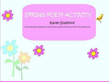 First Grade Spring Theme Composition Project