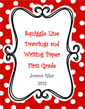 First Grade Squiggle Line Pictures and Writing Common Core