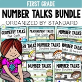 NUMBER TALKS BUNDLE : First Grade Standard Focused (Digital & Printable)