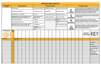 First Grade Standards Based Grade Book (Common Core / Flor