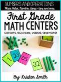 First Grade Standards Based Math Centers: Place Value and Number Sense