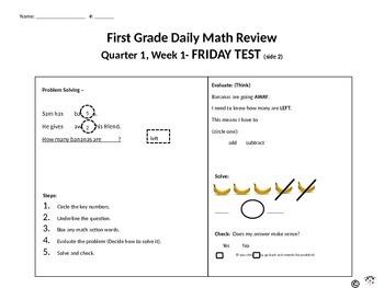 First Grade Standards Based Math Morning Work (Including CUBES)