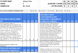 1st Grade Standards Based Math Report Card