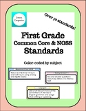 First Grade Standards: Common Core and NGSS