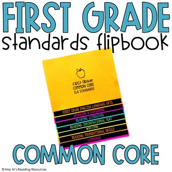 First Grade Standards Flipbook {ELA & Math}